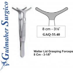 "Walter Lid Grasping Forceps  8 Cm - 3-1⁄8"""
