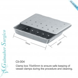 Box for micro vascular and clinical clamp.