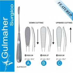 AUFRICHT Nasal Rasp, Cross Up & Down Cut, 21cm