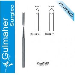 """Ballenger Septum Gouge 16cm- 6-1/4"""""""