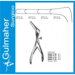 COTTLE Nasal Speculum, 14cm with Side Screw.