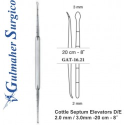 Cottle Septum Elevators D/E 2.0 mm / 3.0mm -20 cm - 8˝