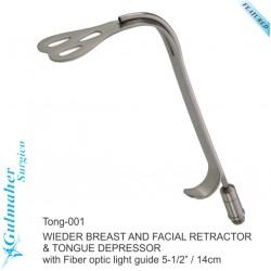"WIEDER BREAST AND FACIAL RETRACTOR  & TONGUE DEPRESSOR 5-1/2"" / 14cm"