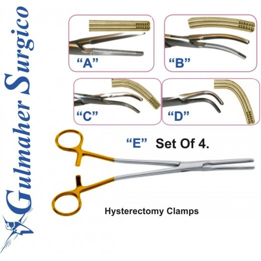 Hysterectomy Clamps 21 cm – 81⁄4˝