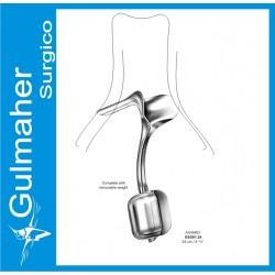 Auvard Vaginal Speculum 24cm, W/Removable Weight.