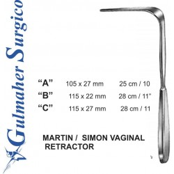 Martin Vag. Retractor, 25cm, 105 X 27mm