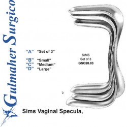 Sims Vaginal Specula, Set of 3