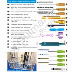 Fat harvesting,removing and fat transfer cannula kit.