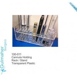 Tube rack hamilton liposuction cannula stand.