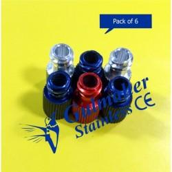 Syringe Caps Luer Lock Tip Stopper.(Pack Of 6)