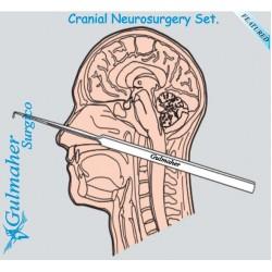 Neurosurgery surgery craniotomy surgical instruments set.