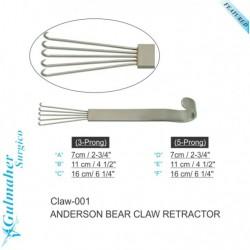 Anderson Bear Claw Retractor Sharp Solid Handle.