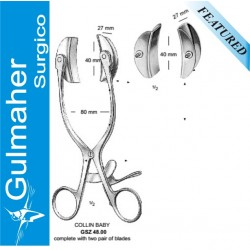 COLLIN BABY RETRACTOR, COMPLETE WITH, TWO PAIR OF BLADES