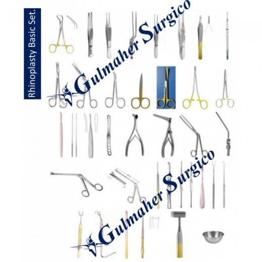 Rhinoplasty nose surgery instruments set