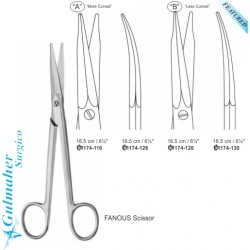 Fanous Dissecting Dorsal Nasal Curved Scissors