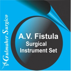AV (arteriovenous) fistula surgical instruments set