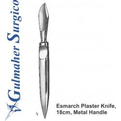 Esmarch Plaster Knife, 18cm, Metal Handle