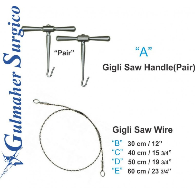 Gigli Saw Wire-Handle|Orthopedic Instruments|Gulmaher Surgico