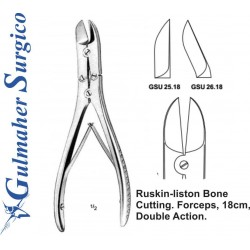 Ruskin-liston Bone  Cutting. Forceps, 18cm,  Double Action.